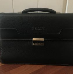 Bally briefcase with combination lock