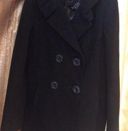 Чeрное Пальто новое