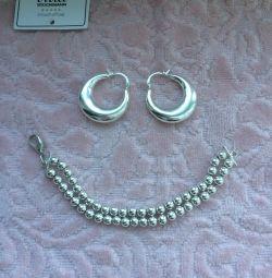 Прикраса біжутерія сережки браслети