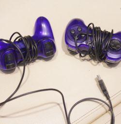 joystick, kablolar, şarj cihazları