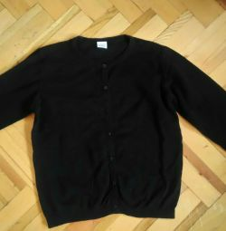 Jacheta este copil. negru pe butoane