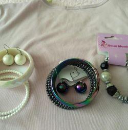 Bijouterie.Bracelet και σκουλαρίκια