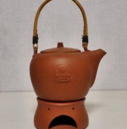 Чайник Глиняный Forsman с Подогревом от Свечи