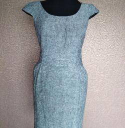 Gray office dress 42-44.