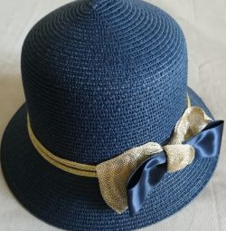 Шляпа женская синяя