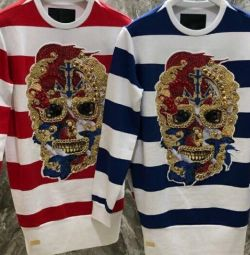 Philipp Plein ❤️Chrome bluză cu craniu, ori