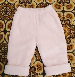 Pantaloni calzi 6-9 luni
