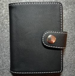 Business card holder made of quality artificial leather