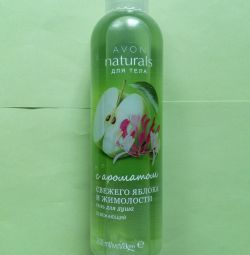 Shower gel aroma of fresh apple and honeysuckle