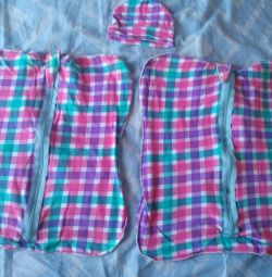 Diapers cocoon with a zipper
