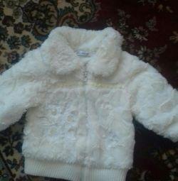 Blouse on the fleece for girls