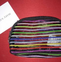 Color Striped Cosmetic Bag
