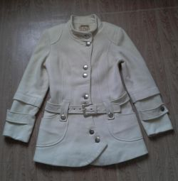 Milk wool coat 44 size