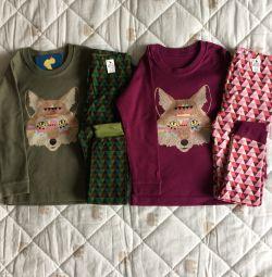 New pajamas 98-110 cm