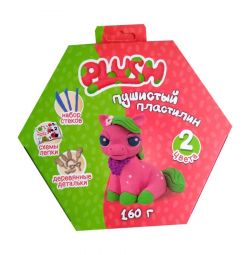 Fluffy Plasticine Plush (pink and green)