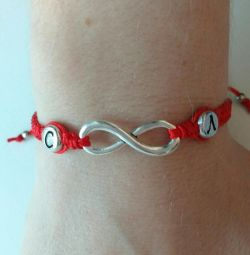 Bracelet infinity with initials