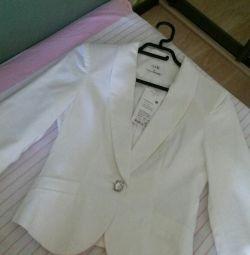 New women's white jacket jacket oodji 42r