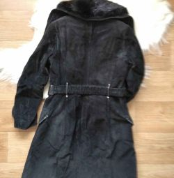 Winter coat short suede