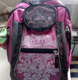 Briefcase, school backpack