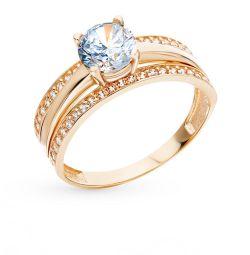 Χρυσό δαχτυλίδι με κυβικά Ζιρκονία