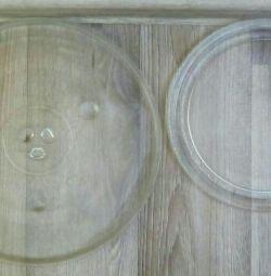 Πλάκες μικροκυμάτων 2 διαφορετικές διαμέτρους