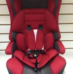 Car seat Mishutka 1-12 years. Red New