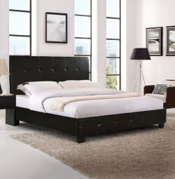 Odette Bed with Dark Brown PU 150x200