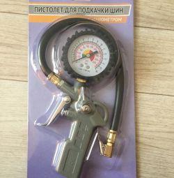 Pistol pentru inflația anvelopelor cu manometru
