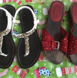 Sandals, flip flops