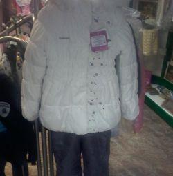 Costum de iarnă (sacou și pantaloni) pentru fată