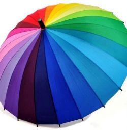 Rainbow umbrela de trestie 24 de culori