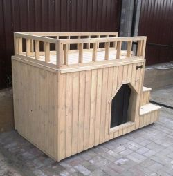 Booth 2-storey for a large dog