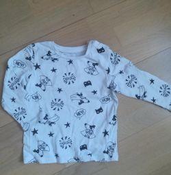 Μακρυμάνικο μπουφάν T-shirt για παιδιά