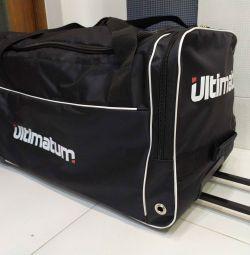Sports bag hockey bag on wheels