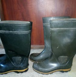 I sell 2 pairs of rubber boots