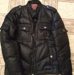 Зимняя куртка на пуху очень теплая