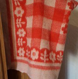 Детское одеяло натуральная шерсть