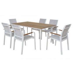 7MM ALUMINIUM WHITE TABLE SET HM10145.01