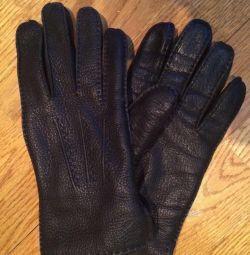 Warm men's gloves