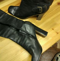 Boots of genuine leather