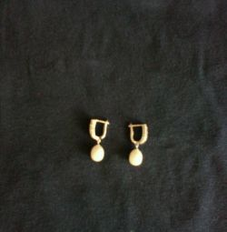 Earrings 925 with pearls