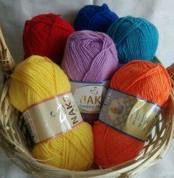 Bambino (Bambino) yarn Nako (Marvel) 25% wool 7