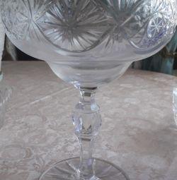 Vază de fructe de cristal