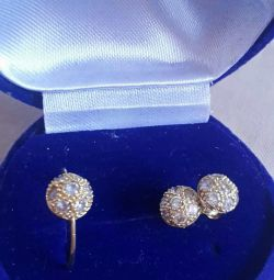 Earrings and gold ring