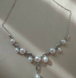 Necklace silver 925 pearl necklace