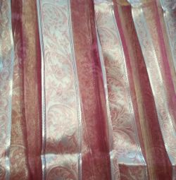 Curtain (tulle) 2 pcs. different widths