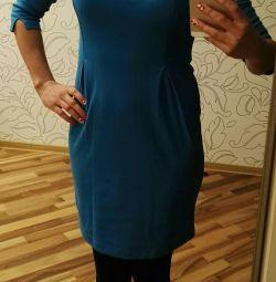 Rochie albastră tricotată rn 44-46