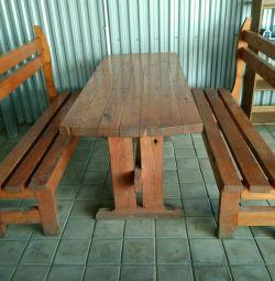 Стол и лавки (Массив)