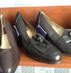 Ayakkabılar. Bayan deri yeni p 36,38,39,40