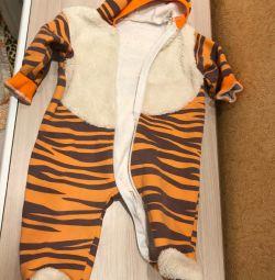 флисовый утепленный комбез Тигр